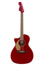 Fender Newporter Player Lefty, Candy Apple Red, Walnut FB