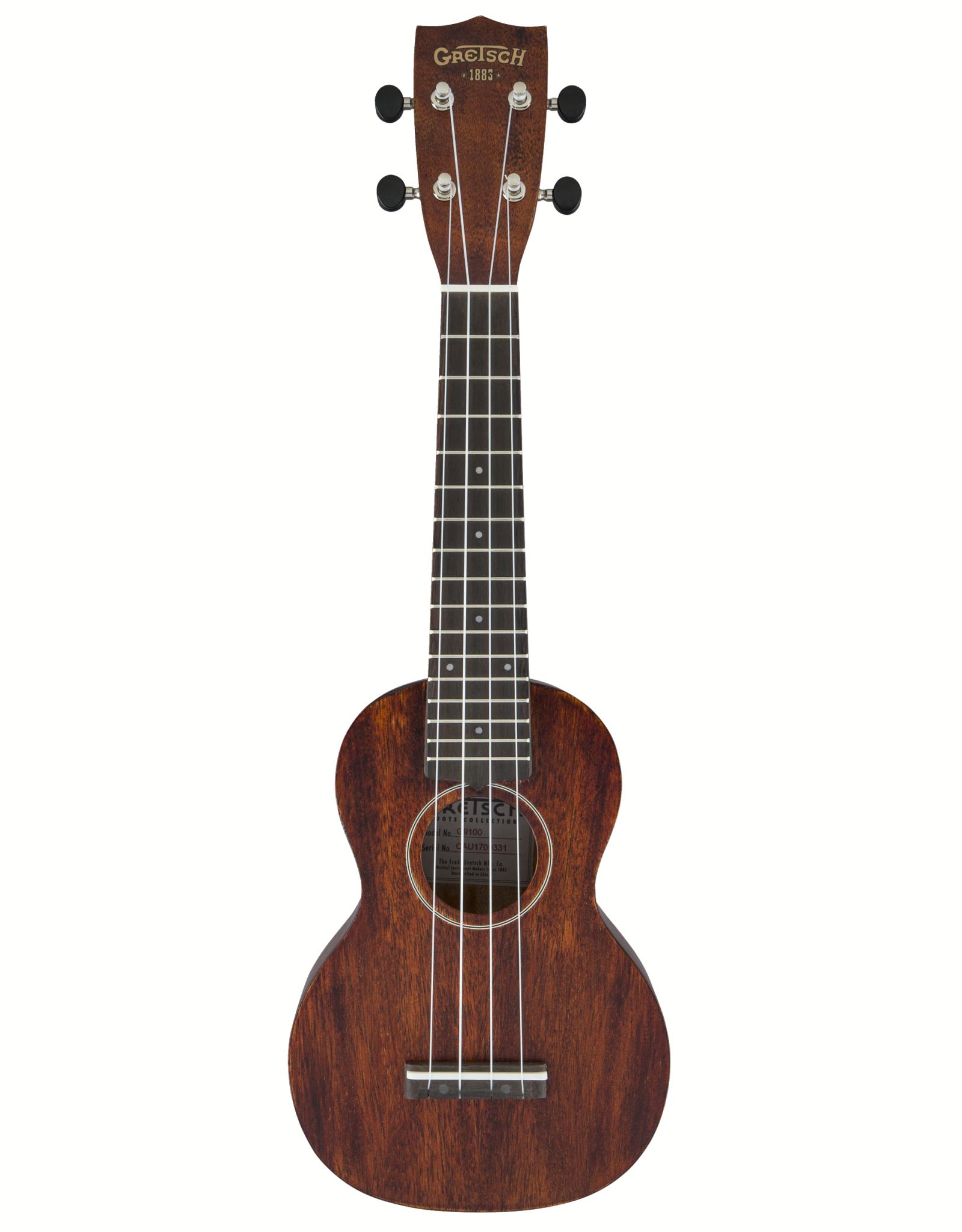 Gretsch Gretsch G9100 Soprano Standard Ukulele w/Gig Bag, Ovangkol Fb, Vintage Mahogany Stain