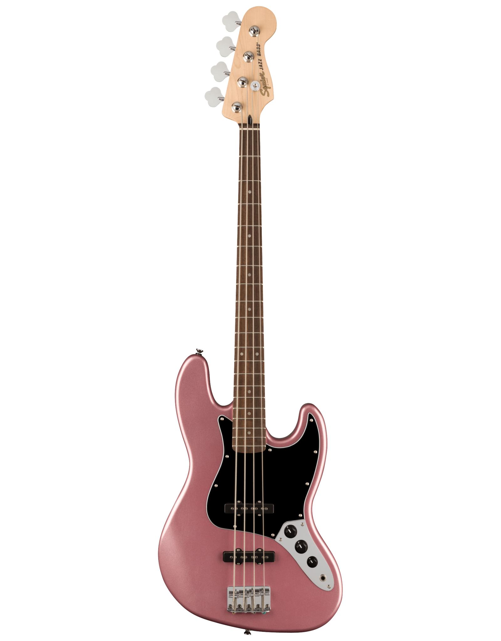 Squier Squier Affinity Series Jazz Bass, Laurel Fingerboard, Black Pickguard, Burgundy Mist