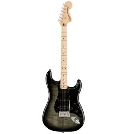Squier Squier Affinity Series Stratocaster FMT HSS, Maple Fingerboard, Black Pickguard, Black Burst