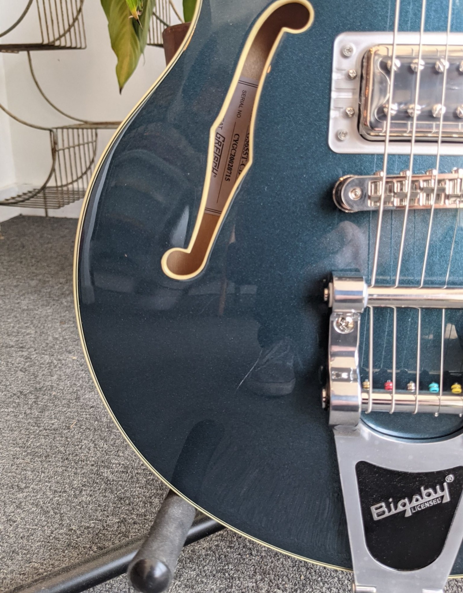 Gretsch Gretsch G5655T Electromatic Center Block Jr. Single-Cut with Bigsby, Jade Grey Metallic w/ HSC