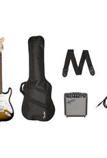 Squier Squier Stratocaster Pack, Brown Sunburst, Gig Bag, Amp
