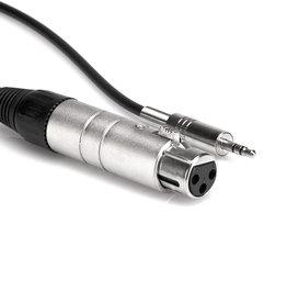 Hosa Impedance Transformer, XLR3F to 3.5 mm TRS, 18 in