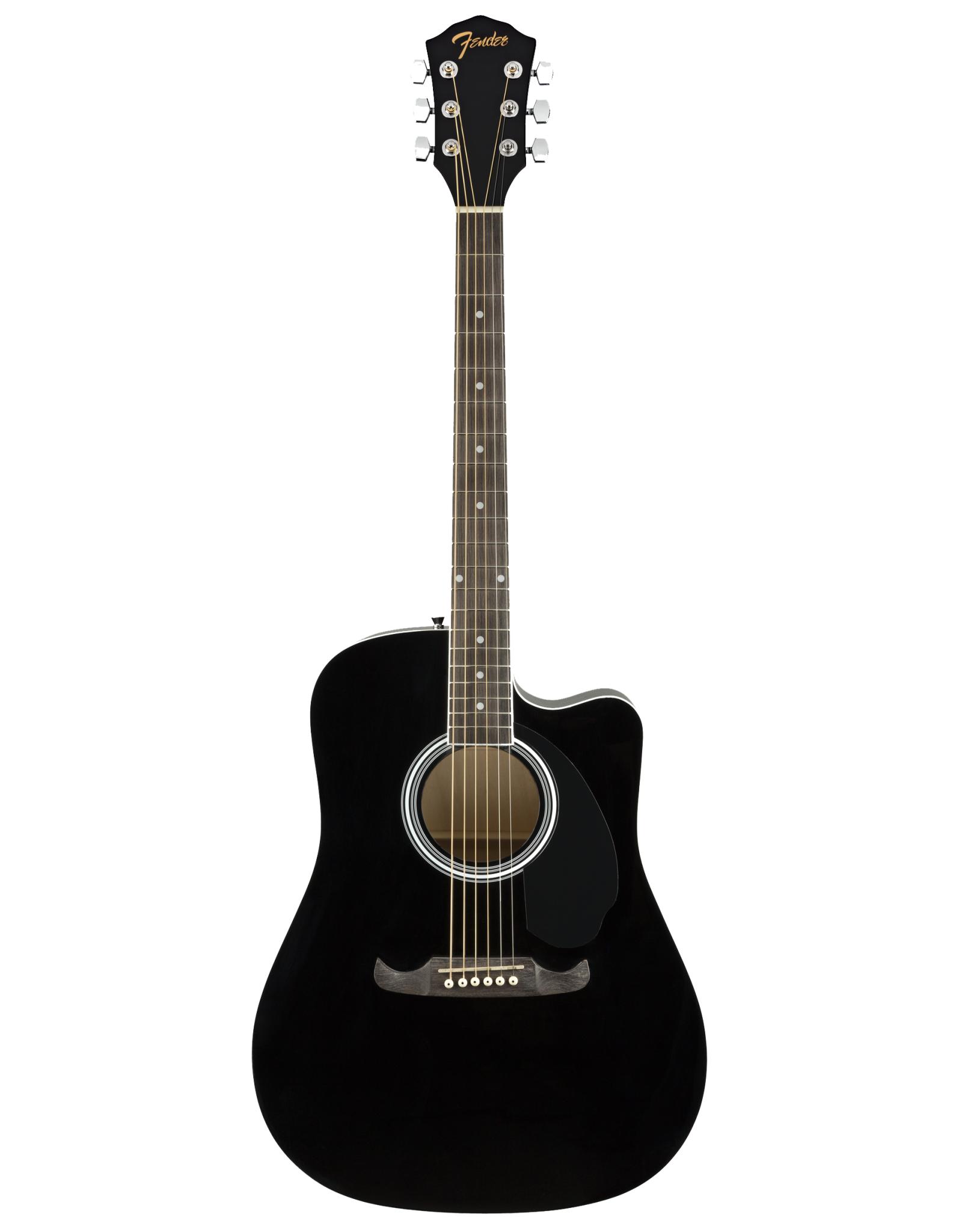 Fender Fender FA-125CE Dreadnought, Black