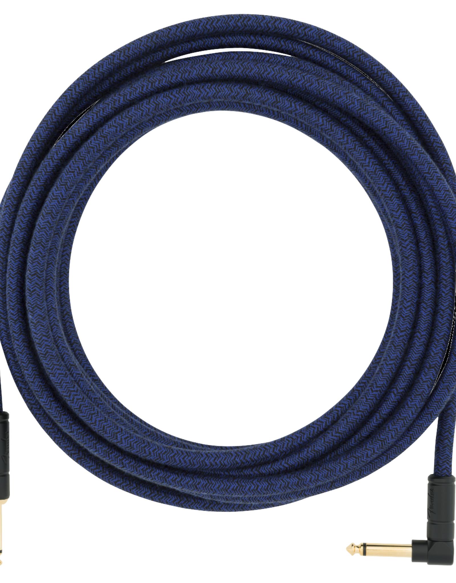 Fender Fender 18.6' Angled Festival Instrument Cable, Pure Hemp, Blue Dream