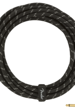 Fender Fender Deluxe Series Instrument Cable, Straight/Angle, 18.6', Black Tweed