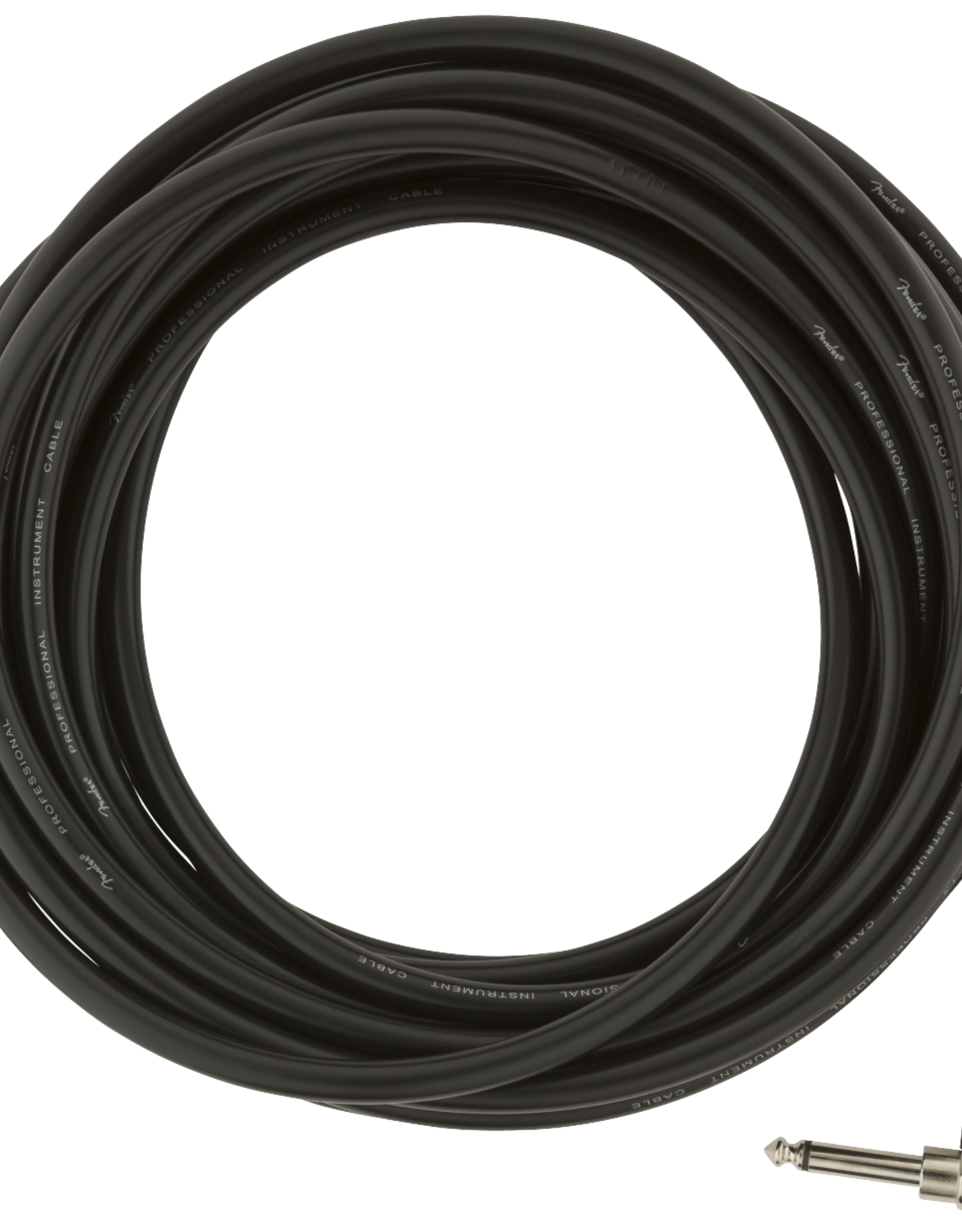 Fender Fender Professional Series Instrument Cables, Straight/Angle, 25', Black