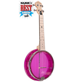 Gold Tone Gold Tone Little Gem (Amethyst): See-Through Banjo-Ukuleles