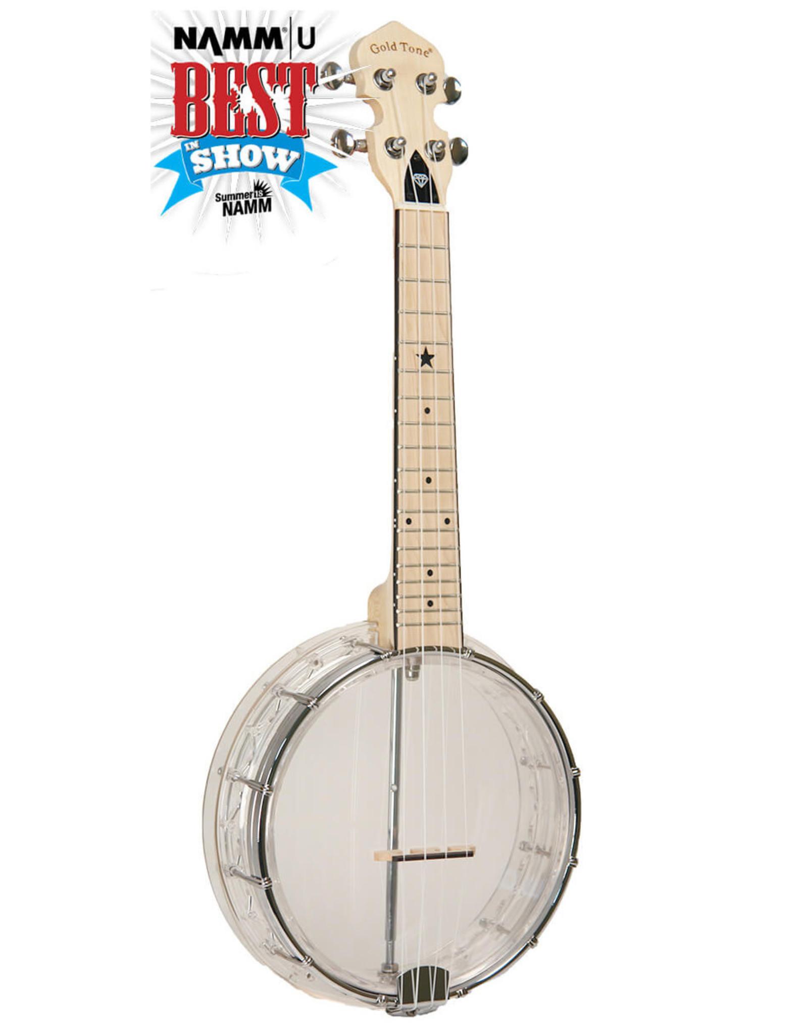 Gold Tone Gold Tone Little Gem (Diamond): See-Through Banjo-Ukuleles