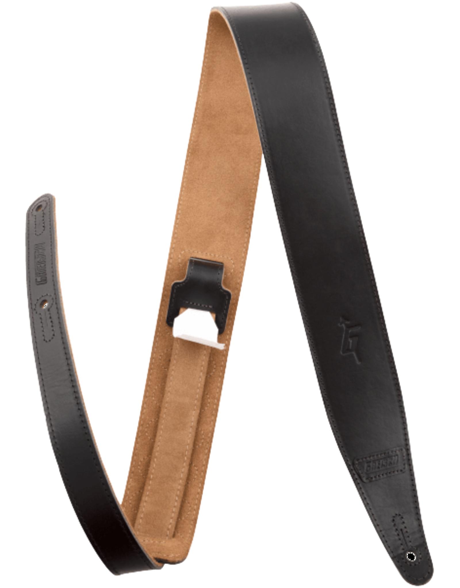"Gretsch Gretsch G Arrow Leather Strap, Black, 3"""