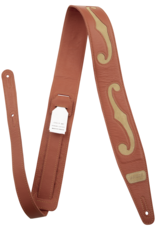"""Gretsch Gretsch F-Holes Leather Strap, Orange and Tan, 3"""""""