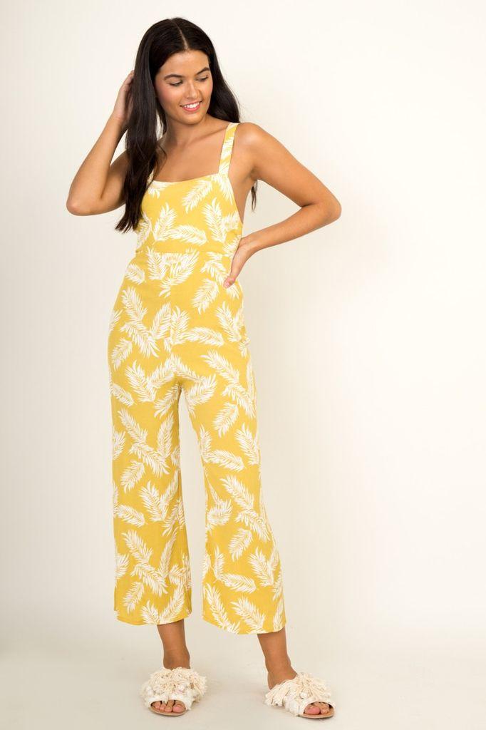 Jumpsuits Palm Print Jumpsuit