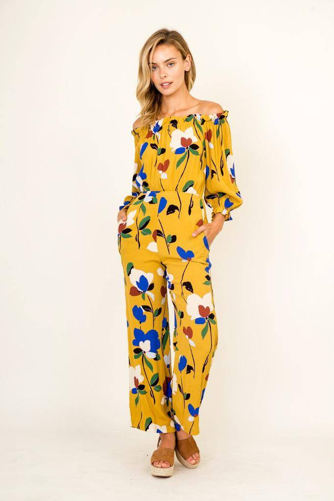 Jumpsuits Gina Floral Mural Jumpsuit