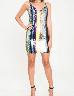dresses Sequin Spaghetti Strap Dress
