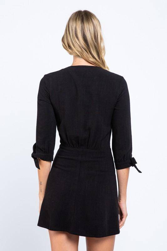 dresses Front Tied Button Down Dress