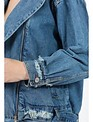 jackets Oversized Moto Denim Jacket