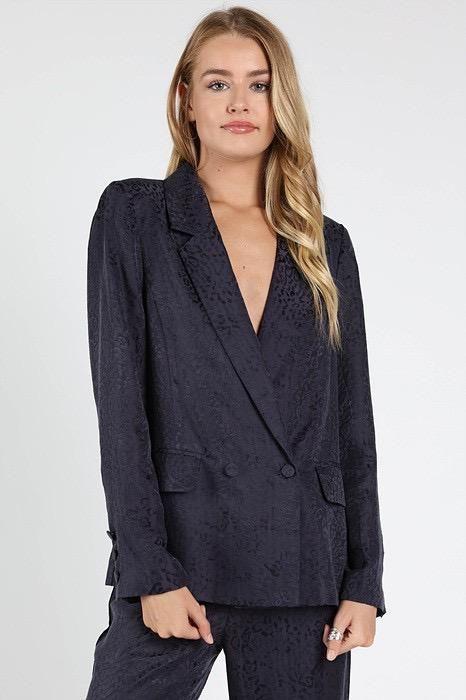 jackets Leopard Print Blazer With Pockets