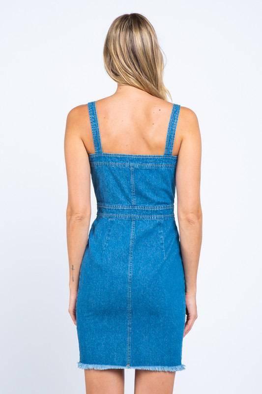 dresses Button Down Denim Dress