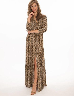 maxi Blase Tiered V- Neck Maxi Dress