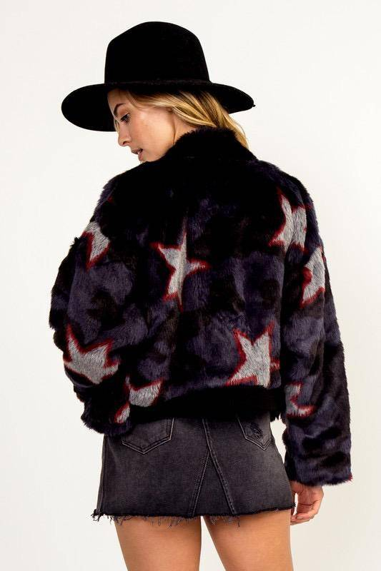 jackets Black Star Fur Jacket