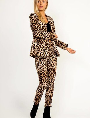Bottoms Leopard Hi-Waist Pants