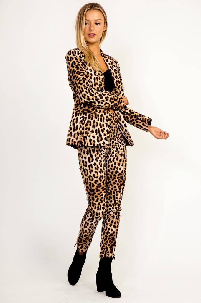 Bottoms Leopard Hi-Waist Pants