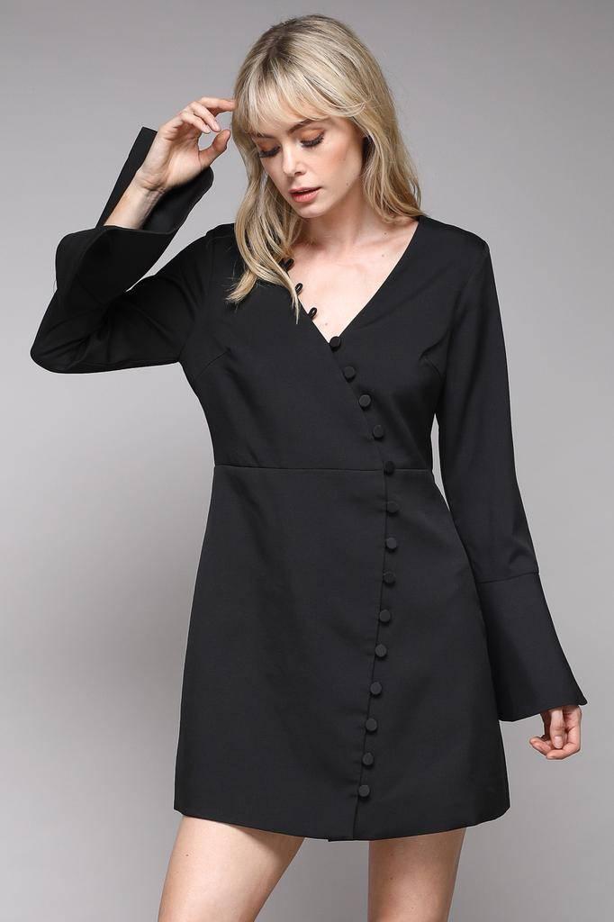 dresses Della Button Front Mini Dress