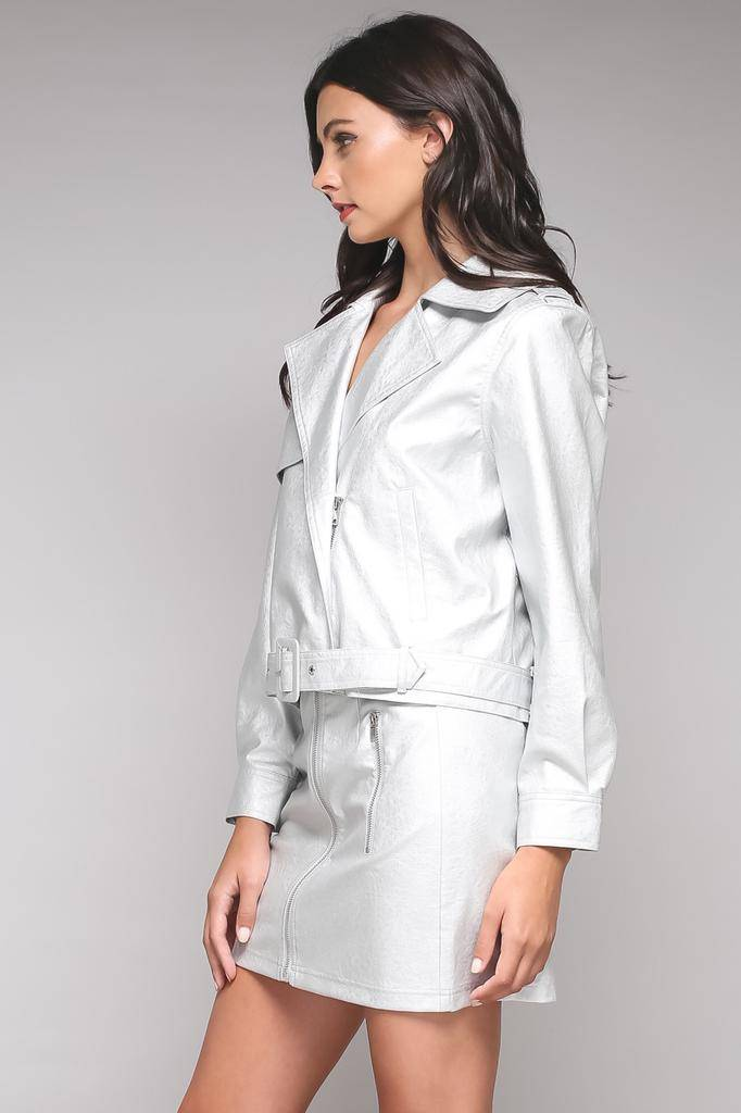 jackets Blanch Metallic Moto Jacket