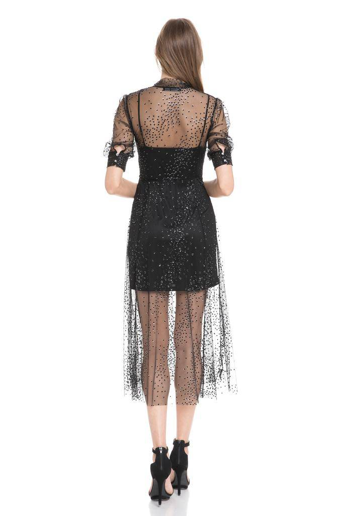 dresses Lurex Mesh Maxi Overlay