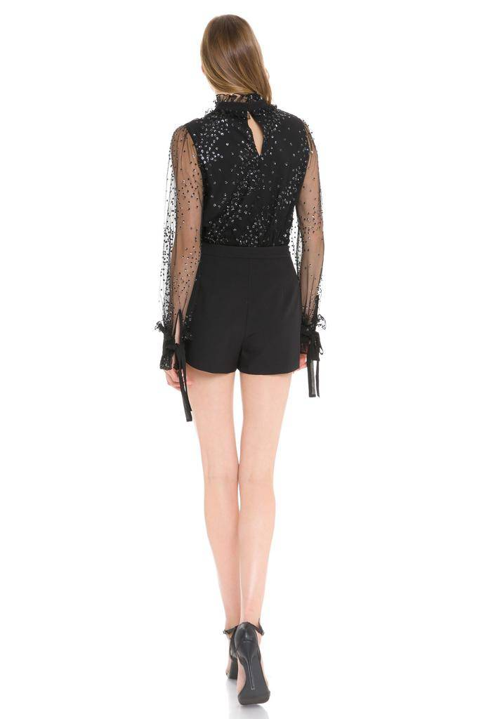 tops Zowie Sparkle Mesh Top