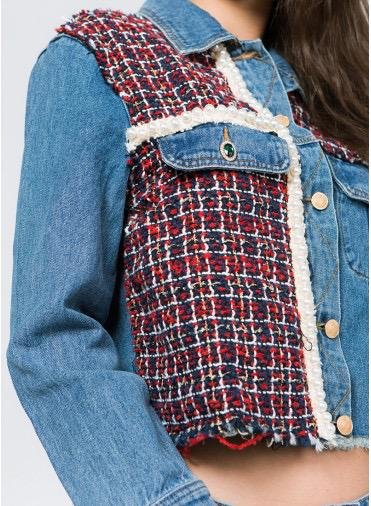 jackets Denim Tweed Mix Jacket