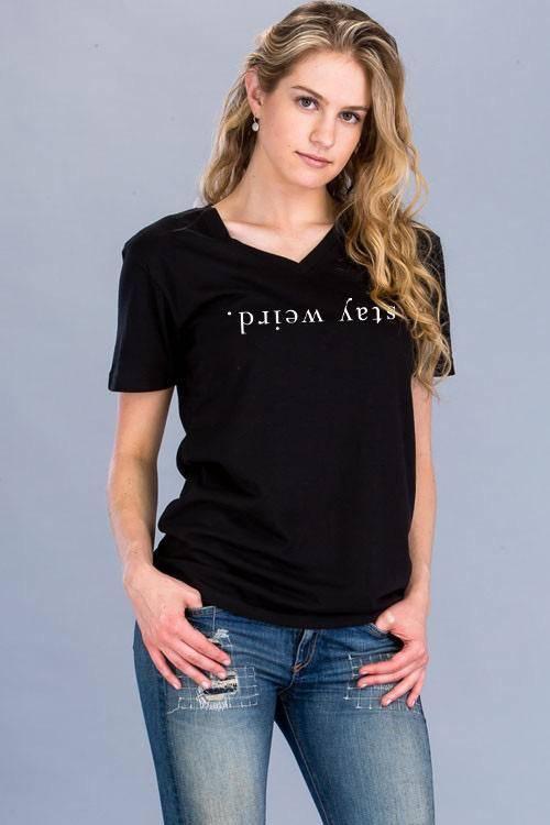 Shirt Stay Weird Short Sleeve T-Shirt