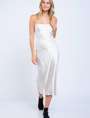 dresses Annora Open Back Midi Dress