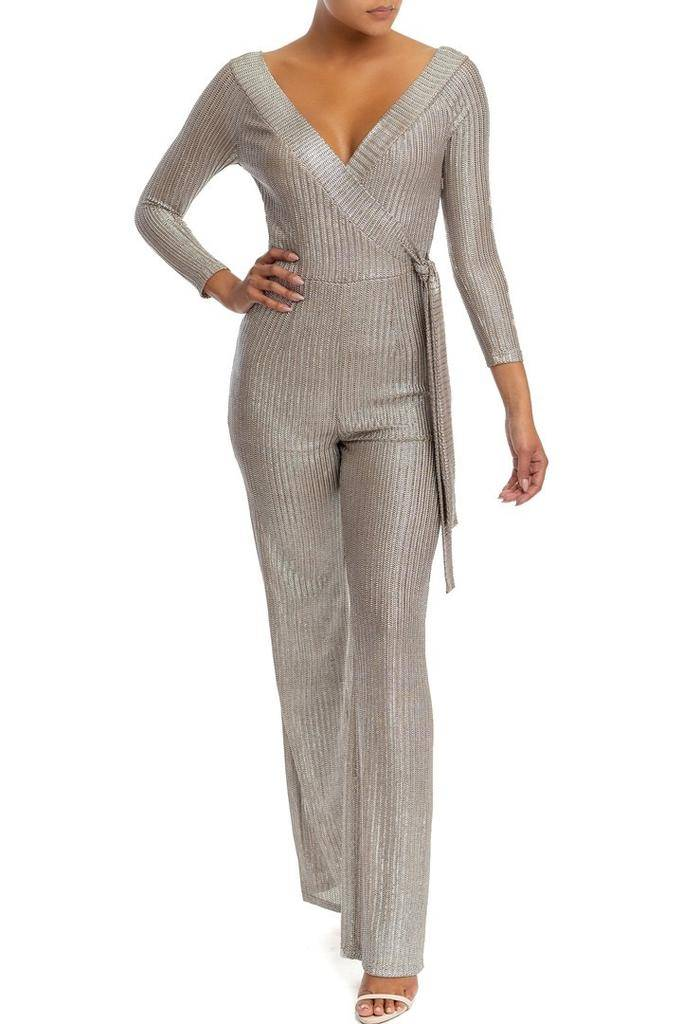 Jumpsuits Veronique Fall Stripe Split Jumpsuit