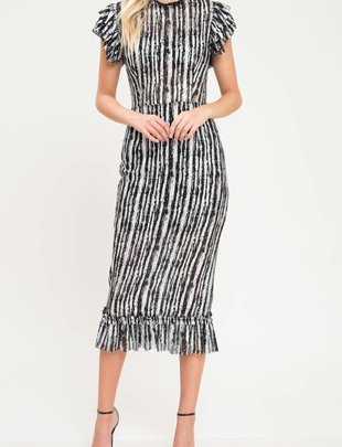dresses Metallic Contast SS Midi dress