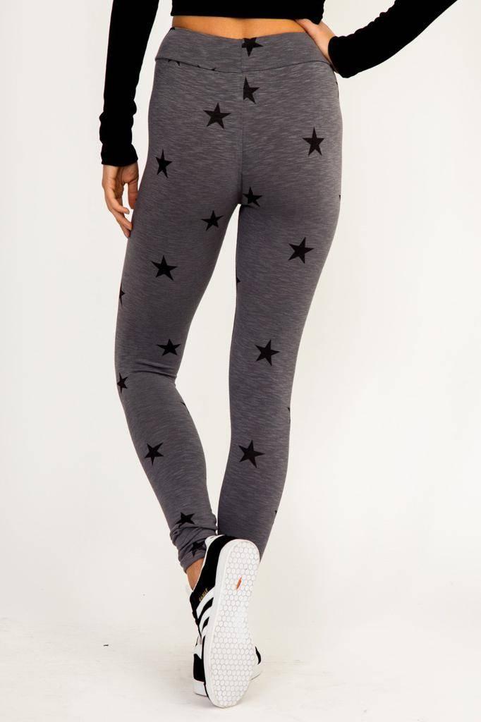 Bottoms Star Leggings W/ Elastic Waist