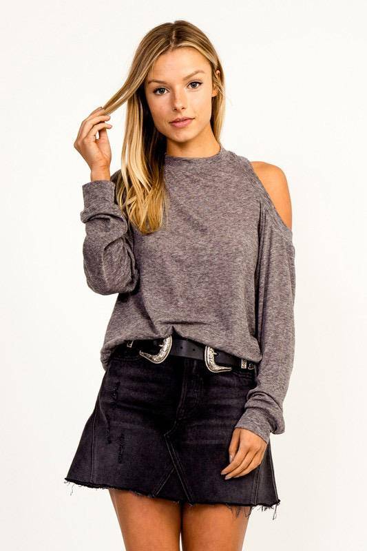 sweaters One Cold Shoulder Sweater