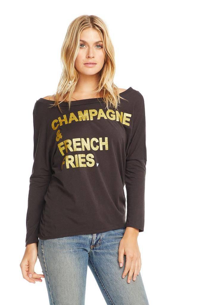 Shirt Champagne & French Fries T- Shirt
