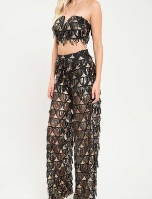 Bottoms Rosalie Sequin Detail Pants
