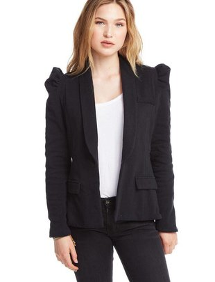 jackets Puff Sleeve Fleece Blazer