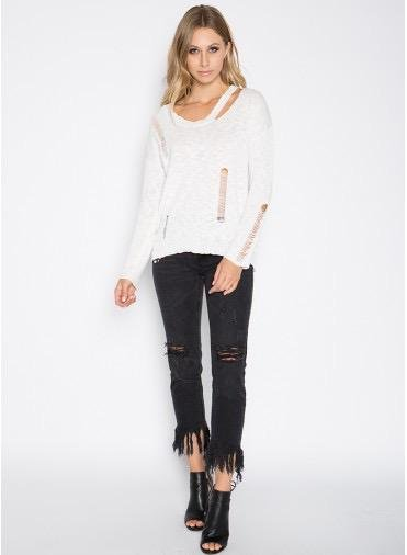 sweaters Scoop Neck Fashion Sweater