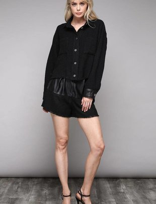 shorts Faux Leater Belt Shorts