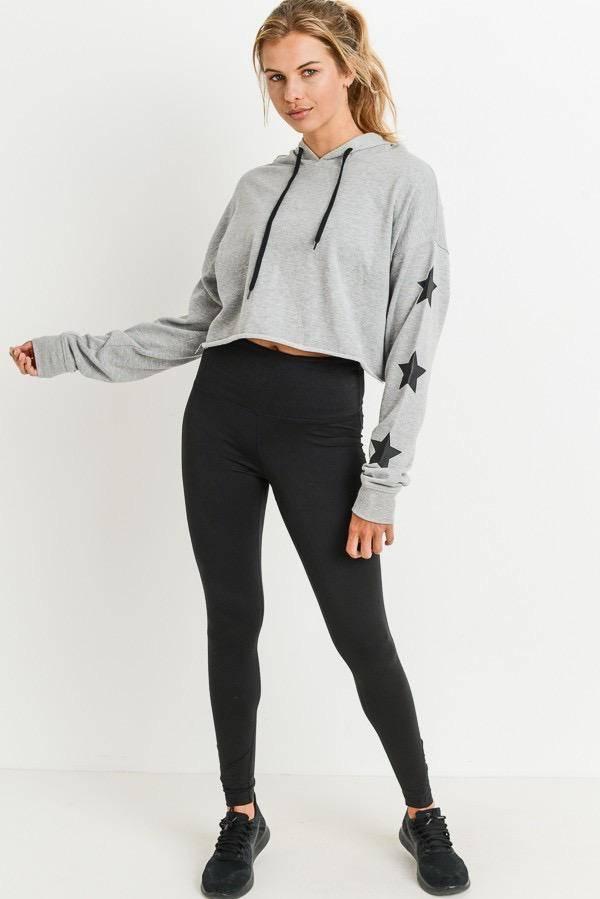 sweaters Star Power Cropped Hoodie Sweatshirt