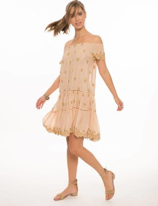 dresses Ella Off The Shoulder embroidery Dress