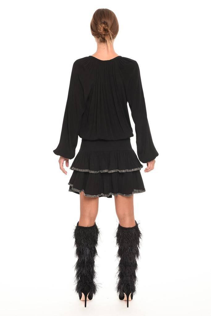 dresses Raven V-Neck Rhinestone Dress