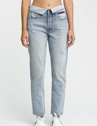Jeans Nico High Rise Mom W/ Fold Over Waistband