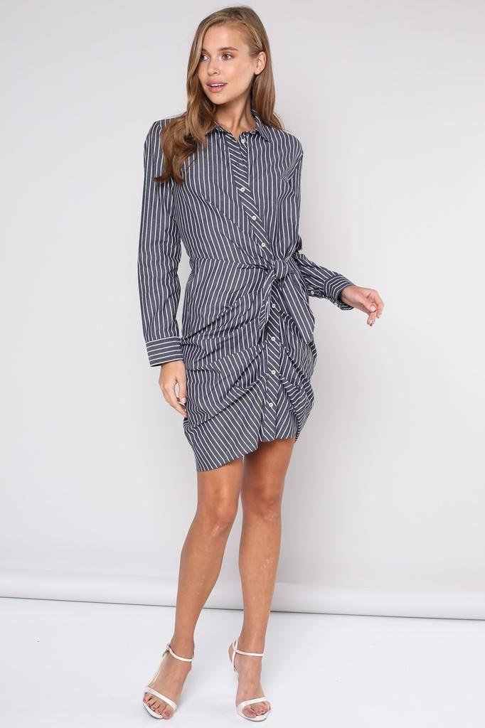 dresses Jana Tie Waist Shirt Dress