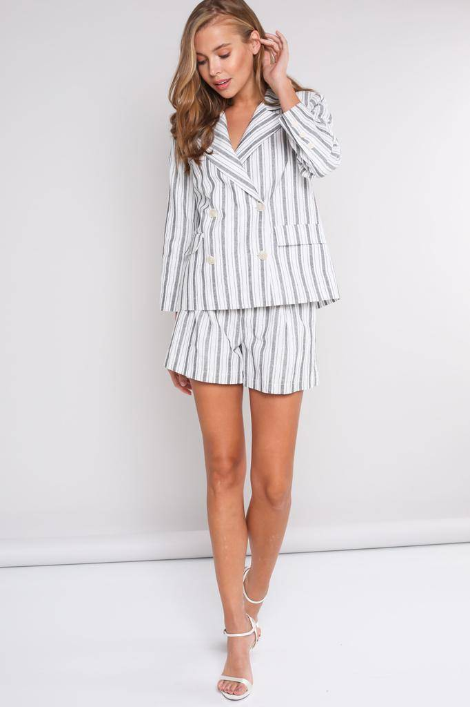 shorts Coraline Stripe Bleted Shorts