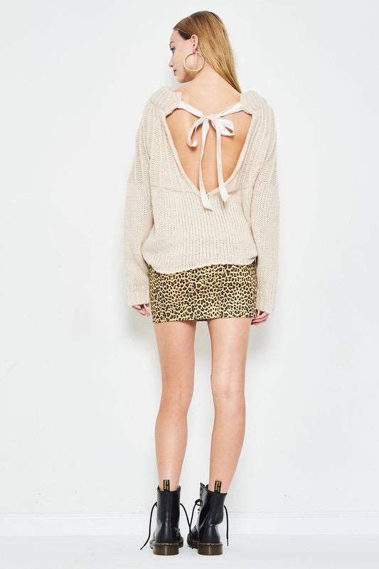 sweaters Chloe Open Back Knit Sweater