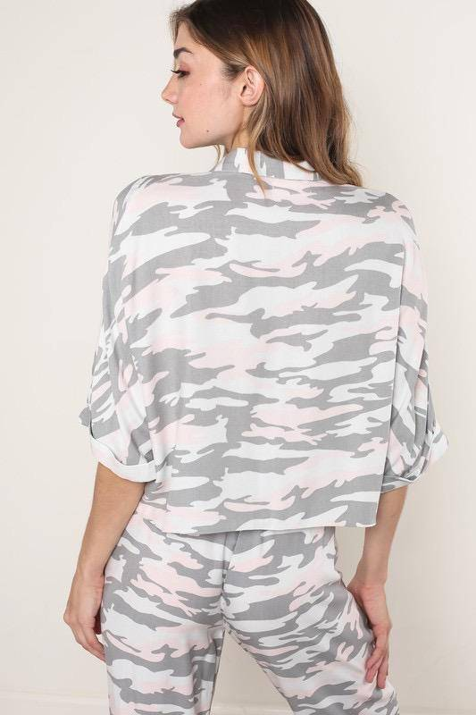 tops Jody Soft Camouflage Top